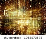 digital city series. backdrop... | Shutterstock . vector #1058673578
