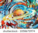 stained glass forever series.... | Shutterstock . vector #1058673974