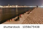 shoes on the danube bank | Shutterstock . vector #1058675438