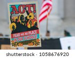 Stock photo march for our lives poster held up during the march 1058676920