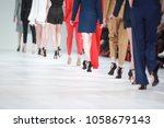 fashion show  catwalk runway...   Shutterstock . vector #1058679143