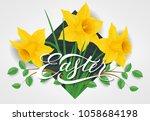 easter lettering. easter... | Shutterstock .eps vector #1058684198