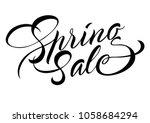 spring sale lettering.... | Shutterstock .eps vector #1058684294