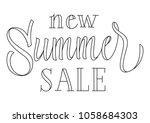 new summer sale lettering.... | Shutterstock .eps vector #1058684303