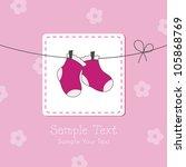 baby girl shower invitation card | Shutterstock .eps vector #105868769