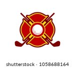 golf logo emblem | Shutterstock .eps vector #1058688164