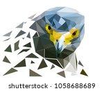head of  falcon bird polygon ...   Shutterstock .eps vector #1058688689
