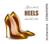 womens high heel shoes ... | Shutterstock .eps vector #1058690096