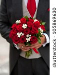 beautiful bouquet made of roses ... | Shutterstock . vector #105869630