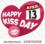 commemorative poster for kiss... | Shutterstock .eps vector #1058702558