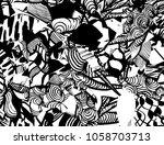 grunge pattern. abstract design.... | Shutterstock .eps vector #1058703713