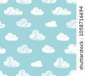 hand drawn seamless pattern... | Shutterstock .eps vector #1058716694