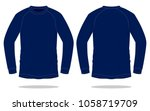 navy long sleeve t shirt  slope ...   Shutterstock .eps vector #1058719709