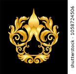 gold vintage frame scroll on... | Shutterstock .eps vector #1058724506