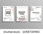 modern business brochure arrow... | Shutterstock .eps vector #1058730983