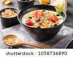 muesli on bowl for breafast | Shutterstock . vector #1058736890