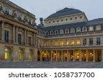 colonnes de buren in palais... | Shutterstock . vector #1058737700