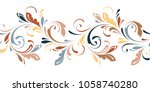 filigree floral seamless... | Shutterstock .eps vector #1058740280