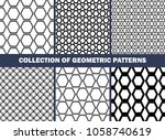 collection of geometric... | Shutterstock .eps vector #1058740619