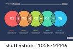 five circles process chart...   Shutterstock .eps vector #1058754446