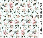 seamless watercolor pattern... | Shutterstock . vector #1058754770