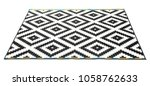 carpet with pattern on white... | Shutterstock . vector #1058762633
