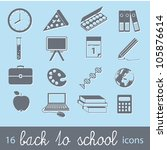 back to school icons | Shutterstock .eps vector #105876614