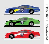 stock car for race vector... | Shutterstock .eps vector #1058768378
