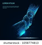 business handshake. low poly... | Shutterstock .eps vector #1058774813