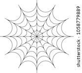 spider web icon design raster... | Shutterstock . vector #1058779889