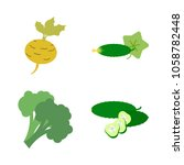 vegetables icon set with 4... | Shutterstock .eps vector #1058782448