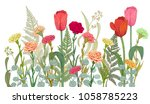 horizontal border with... | Shutterstock .eps vector #1058785223