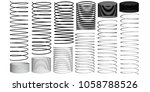 set with springs 3d.... | Shutterstock . vector #1058788526