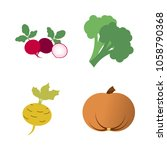 vegetables icon set with 4... | Shutterstock .eps vector #1058790368