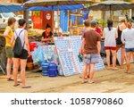 vang vieng  laos   april 16 ... | Shutterstock . vector #1058790860