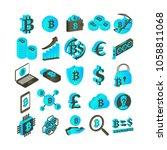 bitcoin   emblems illustration... | Shutterstock . vector #1058811068