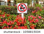 signs in the park. does not... | Shutterstock . vector #1058815034