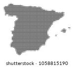 spain map halftone vector icon. ... | Shutterstock .eps vector #1058815190