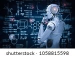 3d rendering robot learning or... | Shutterstock . vector #1058815598