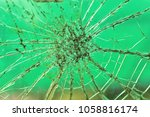 crack glass ground on background | Shutterstock . vector #1058816174