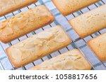 financiers cake close up. | Shutterstock . vector #1058817656