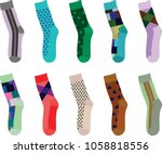 colorful set of socks. vector... | Shutterstock .eps vector #1058818556