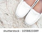 white fashion women's leather... | Shutterstock . vector #1058823389
