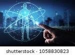 businessman on blurred... | Shutterstock . vector #1058830823
