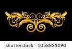 gold vintage baroque frame... | Shutterstock .eps vector #1058831090