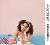 positive glad dark skinned... | Shutterstock . vector #1058833049