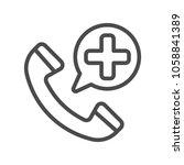 emergency call filled outline... | Shutterstock .eps vector #1058841389