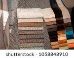 different tissue sample  fabric ...   Shutterstock . vector #1058848910