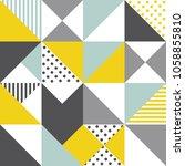 seamless geometric pattern.... | Shutterstock .eps vector #1058855810