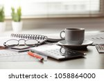 items for business and... | Shutterstock . vector #1058864000